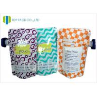 SGS Spout Packaging Pouches Moisture Proof Plastic Zip Lock Juice Milk Manufactures