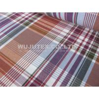 Stable Quality Nice soft 100% Cotton Yarn Dyed Fabric , Plain Weave Plaid Fabric Manufactures