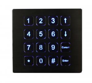16 Keys IP67 Top Panel Mount Backlit Usb Numeric Keypads Red Or Blue Manufactures
