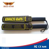 Airport ABS Sound Alarm Hand Held Metal Detector Wand With 1 Year Warranty Manufactures