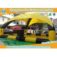 China Yellow / Black Inflatable Water Pool For Bumper Boats With Detachable Air Tents on sale