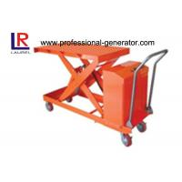 800W Warehouse Material Handling Equipment Mini Scissor Lift Table With Roller Manufactures