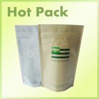 Custom Printed Kraft Paper Stand Up Tea Packaging Pouch With Clear Window Manufactures