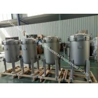 High Filtration Accuracy Stainless Water Filter Housing With Single / Multi Filter Bags Manufactures
