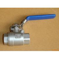 Quality 2-pc stainless steel Padlocking device ball valves 1000 WOG, Full bore, Threaded end for sale