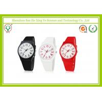 Japan Movement 22MM Silicone Strap Watches With Stainless Steel Buckle Manufactures
