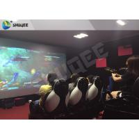 Multiplayer Interactive 7D Shooting Game 7D Movie Theater With Shooting Game And 9 Luxury Motion Seats Manufactures