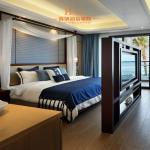 Modern Resort / Star Hotel Bedroom Furniture Queen Size Dark Brown Manufactures