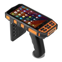 Mobile Portable Rfid Reader Writer , Android Rfid Barcode Reader With Large Screen Manufactures