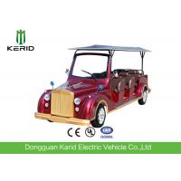Customized Color 11 Passengers Electric Sightseeing Bus With Classic Metal Structure Manufactures