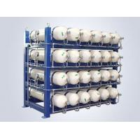 China Steel Frame CNG Gas Cylinder , CNG Cascade Storage 250bar Operating Pressure on sale