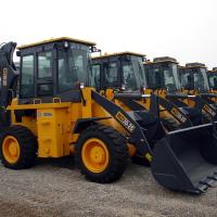 Yellow WZ30-25 XCMG Tractor With Front End Loader / Mini Backhoe Loader 1CBM 25.5T Manufactures