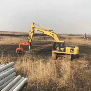 China BUY BEIYI V250D V330 V350 sheet Pile Hammer Hydraulic Vibratory Pile Driver in construction on sale