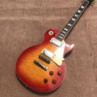 New standard LP 1959 R9 electric guitar, Cherry burst color, frets cream binding, a piece of neck & body, Tune-o-Matic b Manufactures