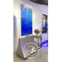 China Dual Side Digital Advertising Screens 55'' Floor Stand Transparent OLED Panel on sale