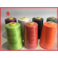 Bright Fiber Spun Polyester Sewing Thread , Eco - Friendly Virgin Ring Spun Yarn
