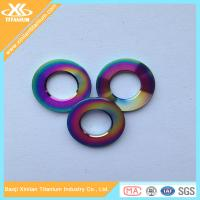 Factory Price For Colorful Gr5 Titanium Flat Washer Manufactures