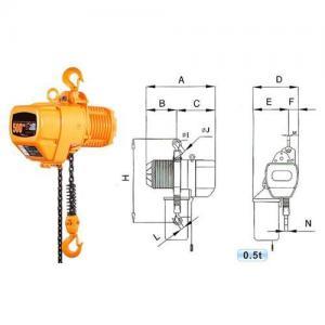 0.5T electric chain hoist, electric hoist Manufactures