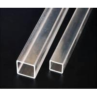 Square White Frosted Acrylic Rods And Tubes , Translucent Extruded Acrylic Tube Manufactures