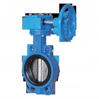 Worm gear/Handle Operated EPDM/PTFE/Viton Seated Wafer Type Ductile Iron Butterfly Valve for Water&Sewage&Chemical&Gas Manufactures