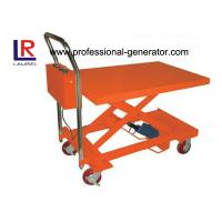 Heavy Duty Hydraulic Mini Scissor Small Electric Lift Table 860MM Lift Height Manufactures