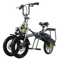 Lightweight Electric Powered Tricycle 14 Inch Aluminium Alloy Frame for sale