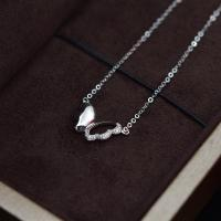 China Super White Moissanite Diamond Necklace Forever One Grade With 18K Gold Metarial on sale