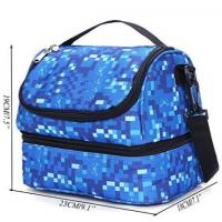 Hand Portable Insulated Food Delivery Bags For Frozen Food Blue Color Manufactures