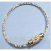 China stainless steel wire cable rope loop with copper screw lock on sale