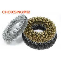 9 Ga 3.6mm Roll Sofa Seat S Shape Springs , Silver Sinuous Wire Springs With Zinc Coating Manufactures
