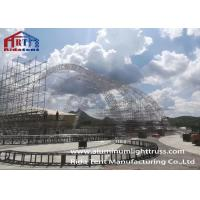 China Arch Aluminum Light Truss , Led Screen Truss With 500g Color Fabric Roof Cover on sale