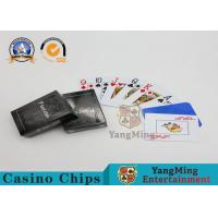 100 Texas Holdem 100% Waterproof Casino Playing Cards For Entertainment Customized Package Manufactures