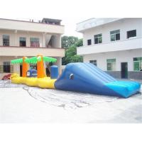 Aqua Jump Inflatable Water Parks / Inflatable Water Island Waster Slide Manufactures
