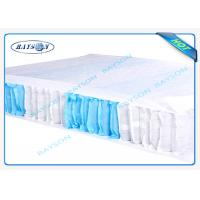 70 Gram White / Blue Color 47cm Width PP Non Woven Fabric For Box Spring Cover Manufactures
