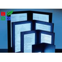 Quality A4 A5 Size LED Menu Board , Eco Friendly Illuminated Backlit LED Menu Display for sale