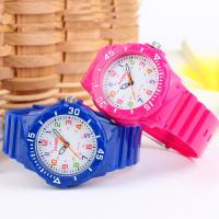 Pink Plastic Quartz Watch For Woman / Children , Automatic quartz watches Manufactures
