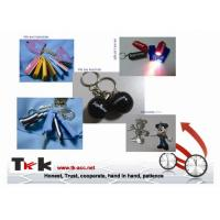 Novelty Personalized Promotional Gifts Imprinted Logo PVC Keychain With LED Light Manufactures