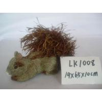 Handmade squirrel,Size:19×6.5×10cm,be made by nature material Glass Manufactures