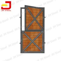 Quality Customized Horse Shower Dividing Horse Stall Panels Wooden Bamboo Infill for sale