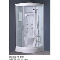 White quadrant shower enclosure with hinged door ABS Material Bathtub Manufactures