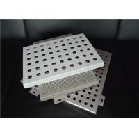 OEM Laser Cutting Perforated Aluminum Sheet Metal Panels Acid - Resistant Manufactures
