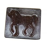China Embossed Jeans Leather Patches , Personalized Clothing Labels on sale