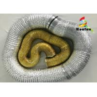 "Smooth Golden Fireproof Flexible Vent Pipe 20"" Aluminum Foil High Performance Manufactures"