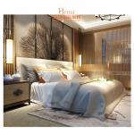 Hardwood + Plywood Hotel Queen Size Furniture in Beds , Bedroom Set , Headboard Manufactures