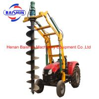 Professional tractor crane pole erection machine pole post cum auger machine for sale