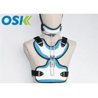 Adjustable Medical Orthosis Orthopedic Neck Brace White / Blue CE Certification Manufactures