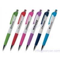 China silk screen printing pen, logo printed advertising pen for gift promotion on sale