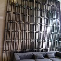 Classical design steel decorative screens and partition with gold color mirror finish Manufactures