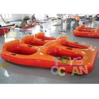 China 5 Person Donut Boat Inflatable Water Towable Tube Ski Boat For Jet Ski Water Fun on sale