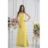 Elegant One Shoulder Sweetheart A-line Chiffon Yellow party Prom Dress Online Shop Manufactures
